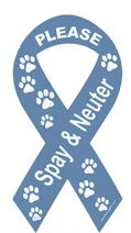 animal shelter support - spay and neuter ribbon